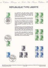Document Philatélique Timbre 1er Jour : 01/08/ 1987 - République Type Liberté
