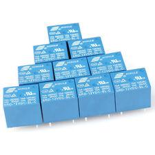 12V DC 10PCS  5Pins RELAY  Coil Power Relay PCB SRD-12VDC-SL-C NEW SLG
