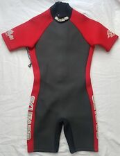 Skiwarm Neoprene Wetsuit - Large Junior Surfing Windsurfing Short Black Red