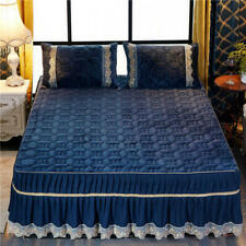 Quilted Cotton Lace Edge Bed Spread Bed Cover Set Mattress Cover 2020 Popular