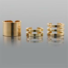 3pcs Gold Silver Urban Rings stack Above Knuckle Ring Band Midi Finger Ring Set