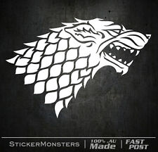 GOT GAME OF THRONES HOUSE STARK 150mmH Sticker Decal Car Wall Wolf