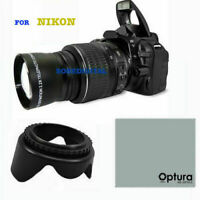 OPTICAL 2.2X HD TELEPHOTO ZOOM LENS FOR NIKON D3400 D3500 + LENS HOOD