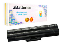 Laptop Battery Sony VAIO VGP-BPS13A VGP-BPS13B VGP-BPS21A - 4400mAh, Black