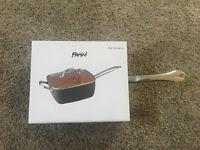 Parini 6 Qt Copper Non-stick Square Pan with Lid INV00419