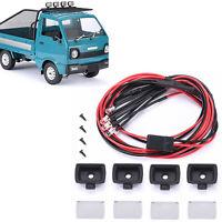 4PCS/Set Auto Roof Scheinwerfer Licht Lampe für WPL D12 RC Modell Truck Crawler