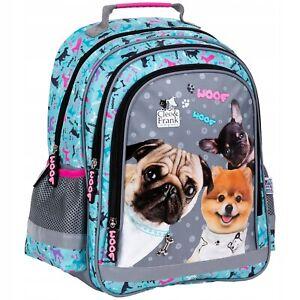 Schulrucksack Schultasche Ranzen Rucksack Backpack Hund Cleo&Frank Mädchen Blau