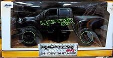 2011 Ford F-150 SVT Raptor Pickup Truck Diecast 1:24 Jada Toys 8inch Black Green