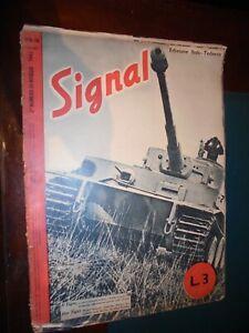 Rivista SIGNAL  n.10 - 2° maggio 1943 Guerra WWII Soldati Aerei Bombardamenti