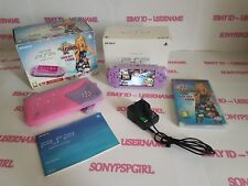 OFFICIAL PURPLE HANNAH SONY PSP 3003 SLIM & LITE + 128GB MEMORY CARD - (BOXED)