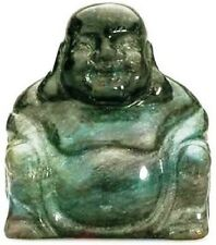 Labradorite Crystal Gemstone Buddha 50mm x 50mm, Reiki Healing Stone Powerful
