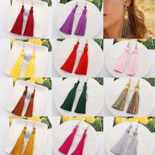 Fashion Bohemian Jewelry Long Tassel Fringe Boho Ear Hook Drop Dangle Earrings