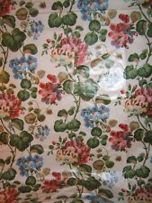 Ramm Fabrics, Pelargoniums, Floral Chintz, Vintage,  BTY, Color Multi