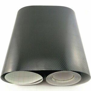Car Interior Black Film Panel Carbon Fiber Vinyl Wrap Sticker Accessories Crafts