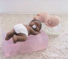 "3.5"" Crawling Baby ""Spanky"" Soft Silicone Mold for Fondant, Polymer Clay, Cake"