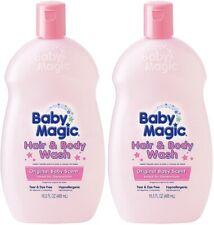 (2) Baby Magic Original Baby Scent Tear Free Hair & Body Wash 16.5 Oz