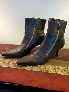 Donald J. Pliner Womens Ankle Boots High Heels Velvet Size 8.5 Made in Italy