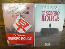 Ya Ding Le jeu de l'eau et du feu + Le sorgho rouge Lot de 2 livres
