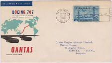 (Rk11)1959 Flight coverQantas Fiji toSan Francisco-Au