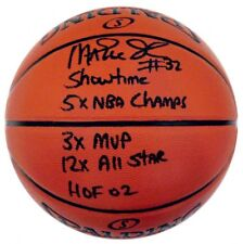 Magic Johnson Autographed NBA Spalding Indoor/Outdoor Stat Basketball ASI Proof