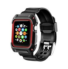 iWatch Apple Watch Series 2 42mm Nike+ Black Sport Band Rugged Shock Protective