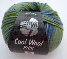 Lana Grossa Cool Wool print Merinowolle 50g Farbe 800 Hell-/Resedagrün/Graublau