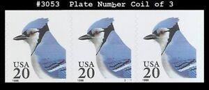USA5 #3053 MNH PNC3 Pl #S1111 Blue Jay s/a