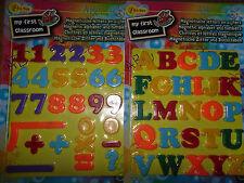 20 Magnet-Zahlen + 8 Magnet-Zeichen + 26 Magnet-Buchstaben * Bunt  * Neu * OVP