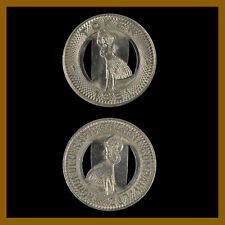 USA Honolulu Hawaii Bus Token 1951 - Hula Girl on both sides