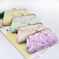 GX- Women's Flower Embroidery Kiss Lock Coin Purse Long Wallet Clutch Bag Newly
