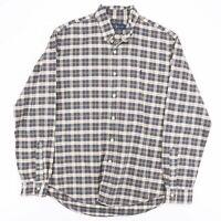 Vintage RALPH LAUREN  Blue 90s Long Sleeve Casual Shirt Mens L