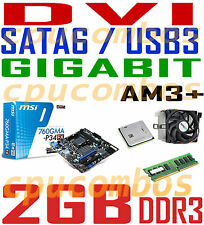 COMBO AMD 255 DUAL CORE 3.1G CPU+2GB DDR3 RAM+MSI SATA6 USB3 DVI AM3+Motherboard