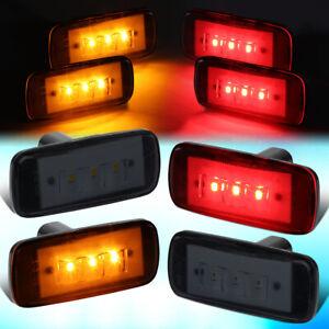 FOR 2010-2017 RAM TRUCK 3500 DUALLY DENDER LED SIDE MARKER LIGHT LAMP 4PC SMOKED