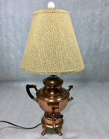 Manning Bowman Copper Coffee Percolator 9 Cups Converted Table Lamp