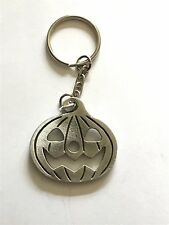 Pumpkin  code dr74 Made From Fine English Pewter on a Split Ring Keyring