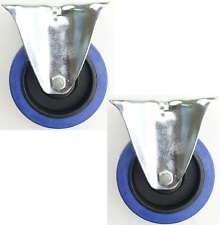 2er Set 100 mm SL Bockrollen Blue Wheel Rollen Schwerlastrollen Transportrollen
