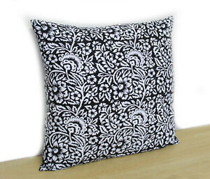 New Indian Floral Design Pillow Covers 100% Block Printed Cotton Cushion Cover