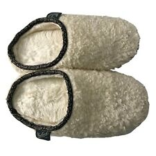 Woolrich White Slippers Size 8 Comfort Cushioning Bedroom Bathroom Shoes