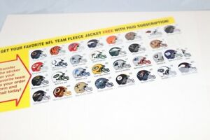 NFL Football Helmets Stickers and Flyer