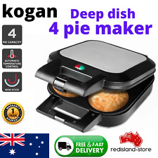 4x Pie Maker Deep Dish Tradtitional Pastry Cupcake Biscuit Maker Nonstick Plates