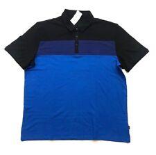 NWT Calvin Klein Men's Lightweight Polo Shirt Nautical Blue, Size 2XL XXL