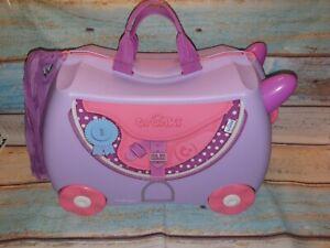 Trunki Children's Ride-On Suitcase Hand Luggage: BLUEBELL PONY - Purple No Key.
