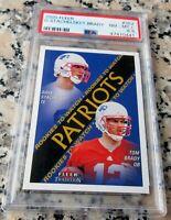 TOM BRADY 2000 Fleer Rookie Card RC PSA 8.5 Patriots 7 Superbowl Rings MVP Bucs