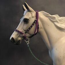 Breyer Handmade 1:9 Scale Purple Green Halter With Lead Gems Model Horse Tack