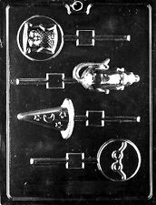 K114  Wizard Themed Lolly Lollipop Chocolate Candy Soap Mold with Instructions