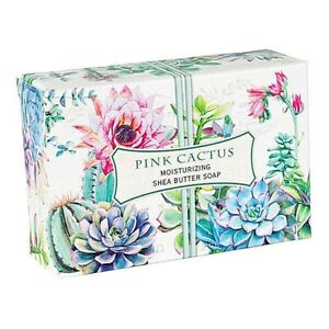 Michel Design Works Pink Cactus Shea Butter Soap Bar Freesia & Asian Pear Scent