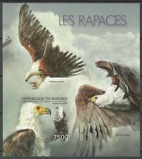 Burundi Oiseaux Rapaces Pygargue Raptors Birds Vogel Non Dentele Imperf ** 2012