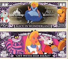 Alice in Wonderland - Disney Movie Character Million Dollar Novelty Money