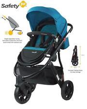 New Safety 1st Wanderer X 3 Wheel Stroller Reversible Seat Baby Kid Pram Blue