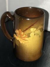 "C. 1895 J.B. Owens Art Pottery Standard Glaze ""Utopian"" Mug Artist Signed MB"